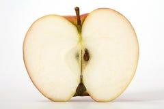 Apple cut in half. Red apple cut in half Stock Photos