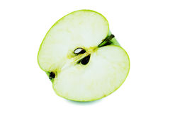 Apple cut through. On a white background Stock Photography