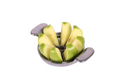 Apple cutter and green apple Royalty Free Stock Photography