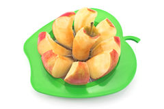 Apple with cutter Stock Photo
