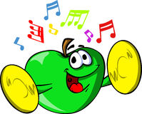 Apple with cymbals Stock Image