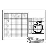 Apple Czarny i biały japoński crossword z odpowiedzią Nonogram Obrazy Royalty Free