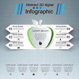 Apple 3D digital illustration Infographic. Business Infographics origami style Vector illustration. Apple icon Stock Photography