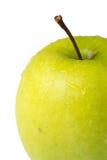 Apple, d'isolement, gouttelettes d'eau Photographie stock libre de droits