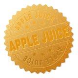 APPLE d'or JUICE Medal Stamp illustration stock
