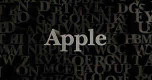 Apple - 3D odpłacająca się kruszcowa typeset nagłówek ilustracja Zdjęcia Royalty Free
