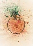 Apple da felicidade ilustração stock