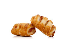 Apple danish on a white background Stock Images