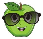 Apple dans des lunettes de soleil Images libres de droits
