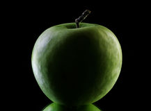 Apple in dark stock photography