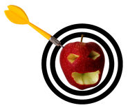 Apple dart Royalty Free Stock Photography