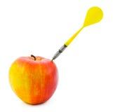 Apple and darts Stock Photos