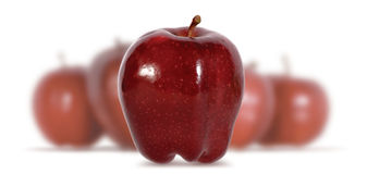 An Apple A Day. Apples, Health Food, Red, Fruit, Metaphor, Ripe, MacIntosh, Steam, Seeds royalty free stock image