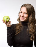 Apple a day girl. Stock Photos