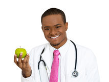 Apple a day keeps doc away Royalty Free Stock Photos