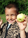 An apple a day keeps the doctor away Royalty Free Stock Images