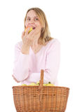 An apple a day keeps the doctor away Stock Image