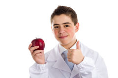 Apple a day keeps the doctor away, old saying Stock Image