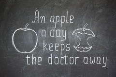 An apple a day keeps the doctor away Royalty Free Stock Image