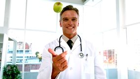 An apple a day keeps the doctor away video stock video footage