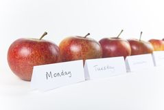 An Apple a Day - Oblique View Stock Photo