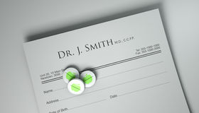 An Apple A Day Pill Prescription Royalty Free Stock Image