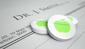 An Apple A Day Pill Prescription Royalty Free Stock Photos