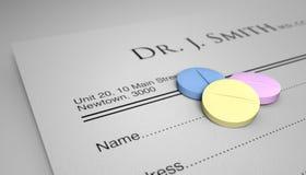 An Apple A Day Pill Prescription Stock Image