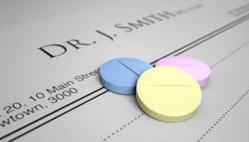 An Apple A Day Pill Prescription Stock Photography