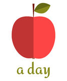Apple a Day Poster. Poster to World Health Day with red apple Royalty Free Stock Photo