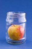 Apple de couleur jaune-rouge Images stock