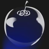 Apple de cristal Fotos de Stock