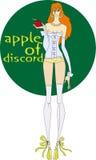 Apple de desacordo ilustração royalty free