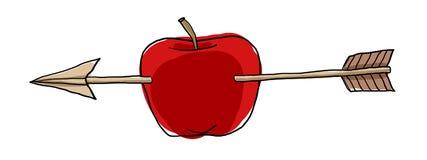 Apple-de illustratie van de pijlenkunst Royalty-vrije Stock Foto