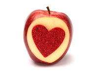 Apple de l'amour Photographie stock