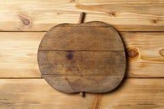 Apple de madera Imagen de archivo