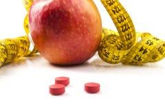 Apple de medição Foto de Stock Royalty Free