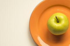 Apple de oro Imagen de archivo libre de regalías