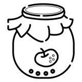 Apple-de vector van het jampotpictogram vector illustratie