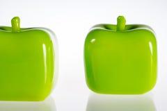 Apple-decoratiestukken - close-up Stock Foto