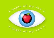 Apple del mio occhio Fotografie Stock Libere da Diritti