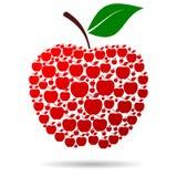 Apple del rojo de Apple Imagen de archivo libre de regalías