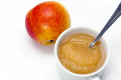 Apple and delicious apple sauce Stock Image