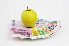 Apple and denominations Stock Images