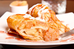 Apple  dessert roll Stock Image