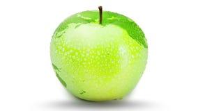 Apple die als aarde draaien stock illustratie