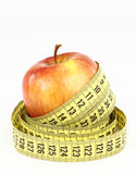 Apple and diet Royalty Free Stock Image