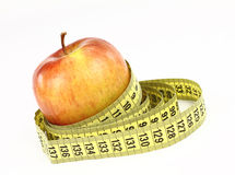 Apple and diet Stock Image