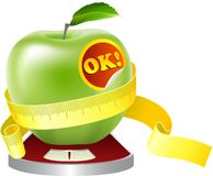 Apple on a diet Stock Images