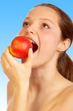 Apple diet. stock photography